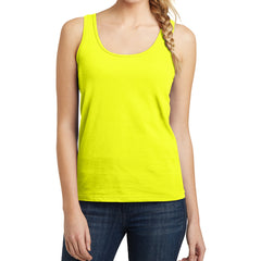 Women's Juniors The Concert Tank - Neon Yellow