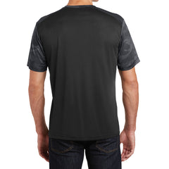 Men's CamoHex Colorblock Tee Shirt Black/ Iron Grey Back