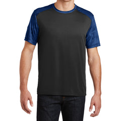 Men's CamoHex Colorblock Tee Shirt Black/ True Royal Front