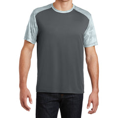 Men's CamoHex Colorblock Tee Shirt Iron Grey/ White Front