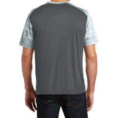 Men's CamoHex Colorblock Tee Shirt Iron Grey/ White Back