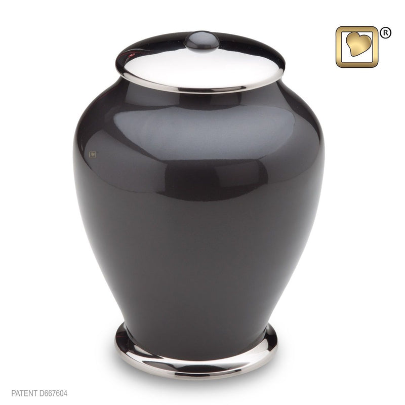 Simplicity Midnight Tall Adult Funeral Cremation Urn,  225 Cubic Inches