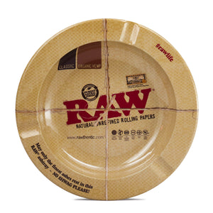 Raw Round 5.5-Inch Metal Small Ash Tray - Outontrip