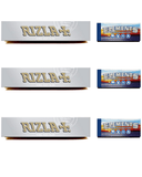 Rizla Plus Silver Rolling Paper + Elements wide tips/roach - Set Of 6