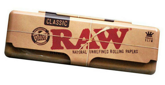 RAW CLASSIC KING SIZE TIN ROLLING PAPER CONTAINER - Outontrip