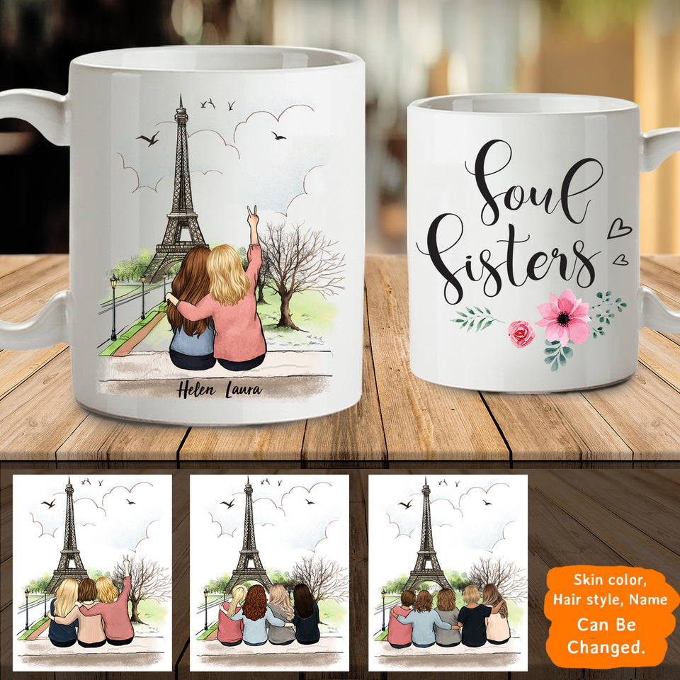 Personalized Best Friends (Up To 5 Persons) Eiffel - 2321