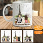 Personalized Dog Couple Mug (Print On Both Sides) Eiffel - 2326