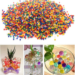 10000 Stks/zak Parel Vorm Kristal Bodem Water Kralen Bio Gel Ball Voor Bloem Wieden Mud Grow Magic Jelly Ballen
