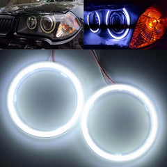 Paar 70mm 10W 12V 60SMD COB Wit Buiten Angel Eye Ring Koplamp Diafragma