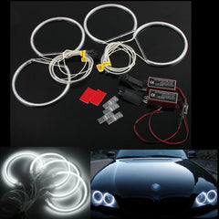 4 stks LED CCFL Angel Eyes Halo Ringen Lichten Xenon Wit Voor BMW E36 E39 E46