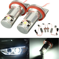 2x H8 LED Angel Eye Halo Ring Zijmarkeringslicht Gloeilamp Voor BMW E70 E82 E90 E92 Z4