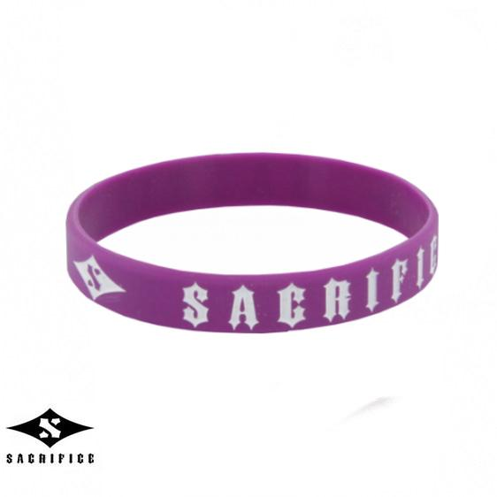 Sacrifice Rubber Wristband, Purple Accessories Sacrifice
