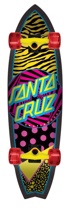 Santa Cruz Complete Longboard Land Shark Saved By The Shark Skateboard Santa Cruz