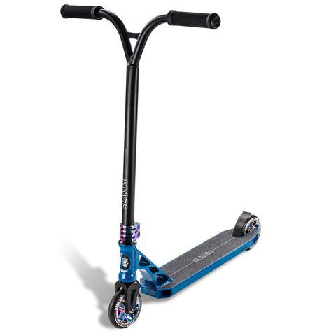 Slamm Scooter Assault III Complete Stunt Scooter, Blue/Oil Slick