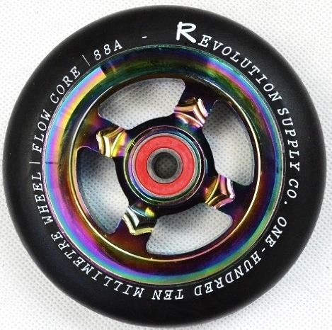 Revolution Scooter Flow Core 110mm Wheel, Black / Neo Chrome