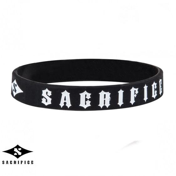Sacrifice Rubber Wristband, Black Accessories Sacrifice