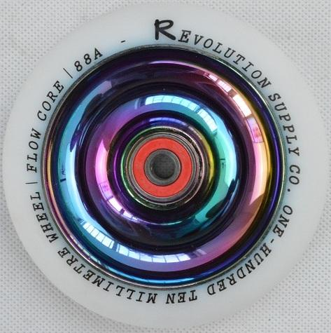 Revolution Scooter Full Core 110mm Wheel, White / Neo Chrome