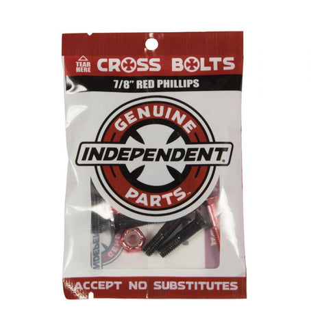 Independant Trucks Hardware Bolts phillips - 7/8 (Red)