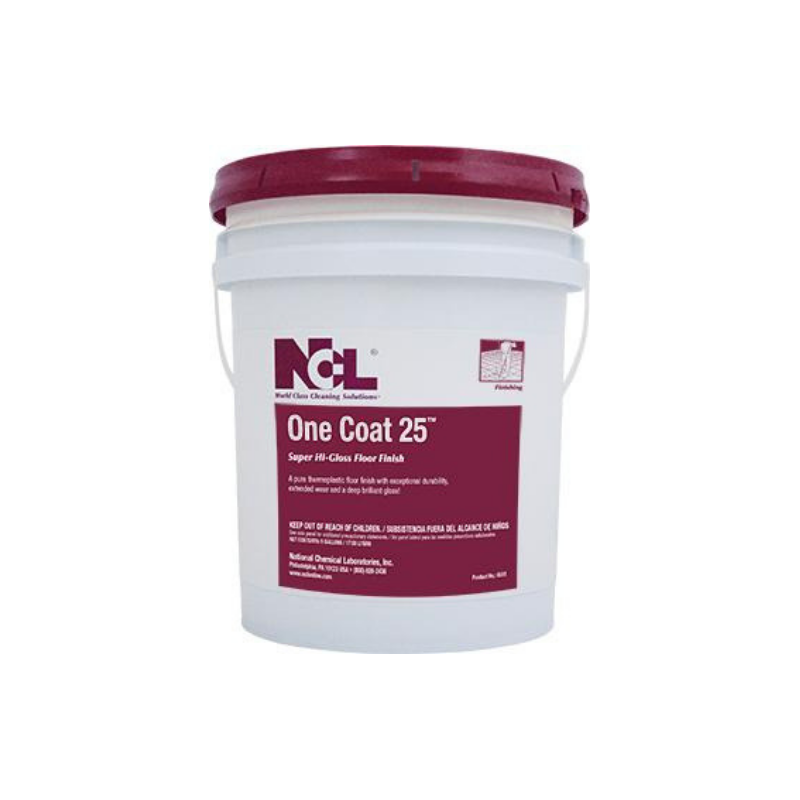 One Coat 25 Super High Gloss Floor Finish, 5 Gal (Each)
