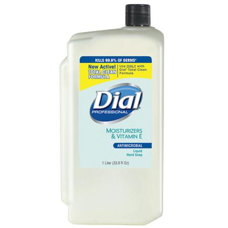 Dial Liquid Antimicrobial Soap w-Moisturizers(1 L)