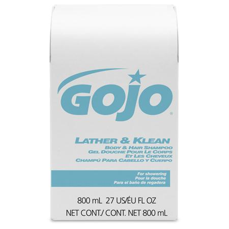 GOJO Lather & Klean Body & Hair Shampoo(800 mL BIB)