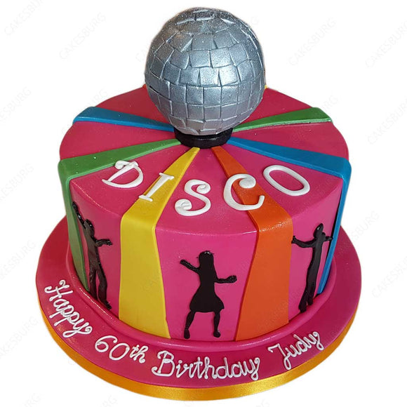 Glitter Disco Light Ball Cake
