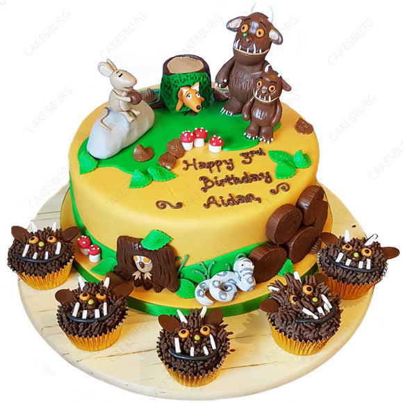 The Gruffalo Cake With 12 Cupcakes