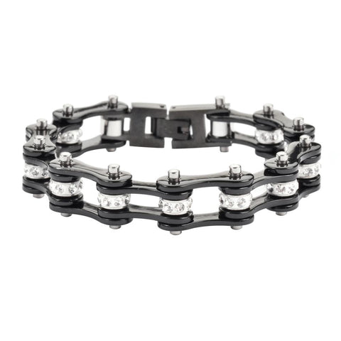 All Black Motorcycle Bike Chain Bracelet