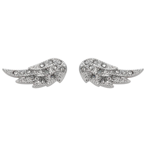 Angel Wing Bling Earrings