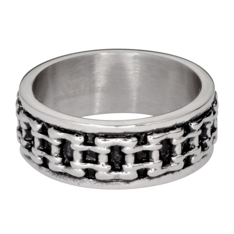 Gents Bike Chain Ring Silver