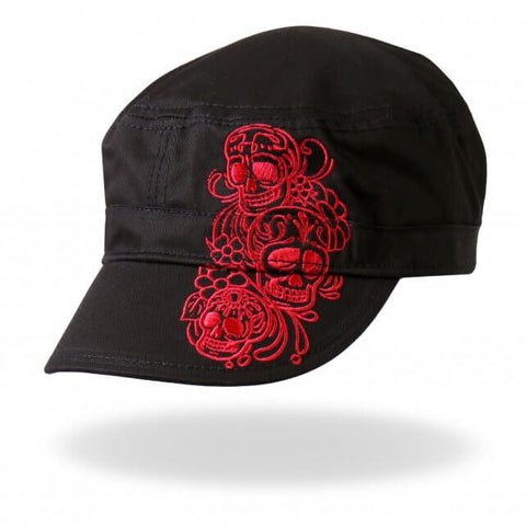 Doll Skulls Ladies Black Cadet Cap