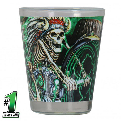 Official 2018 Sturgis Motorcycle Rally #1 Design Skeleton Chief Shotglass