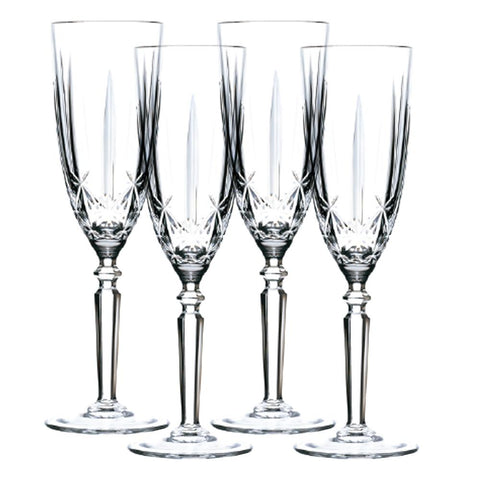 Orchestra - Bohemian Crystal Flutes, Set of 4