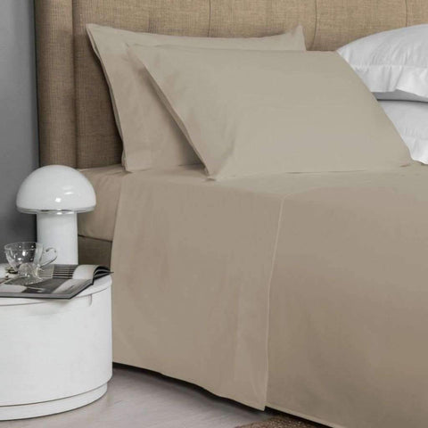 Lauren Taylor - T200 Cotton Sheet Set, Taupe