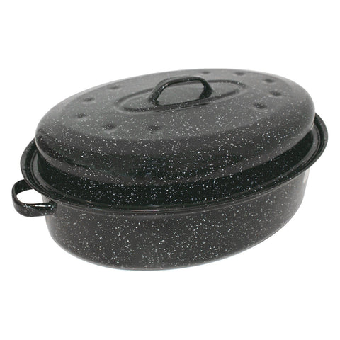 Enamel Roasting Pan with Lid