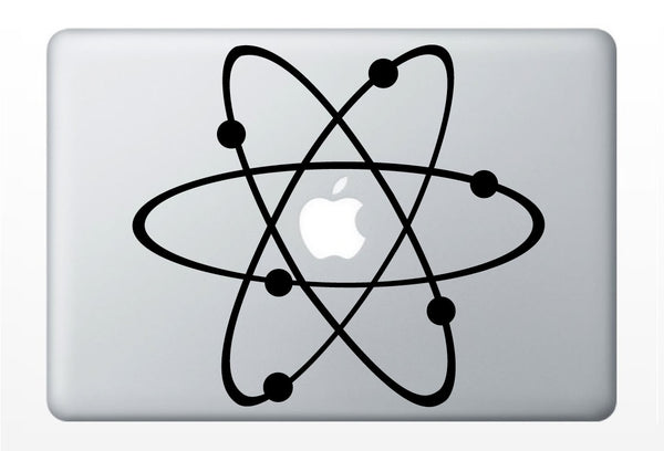 Atom laptop science DECAL- macbook iPad computer- vinyl sticker molecule