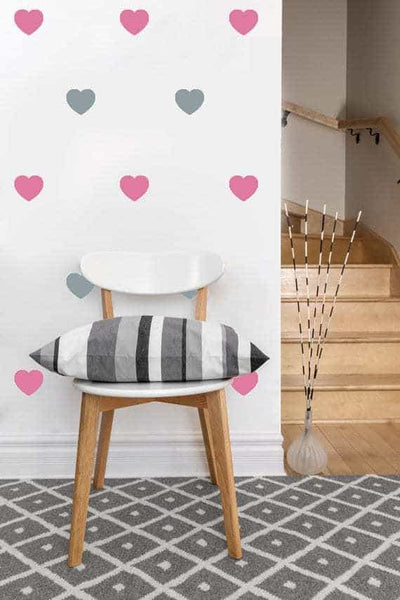 Heart Decals | Vinyl Wall Pattern