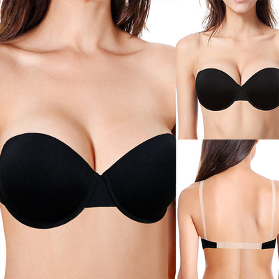 Three-way Straps Backless Push Up Underwire Balconet Bra for Wedding/Party