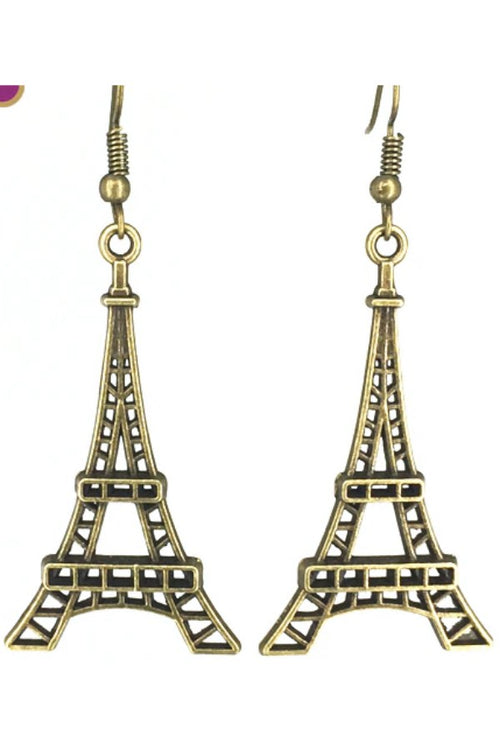 Bronze-plated-eiffel-tower-earrings-online-budget-shopping-online