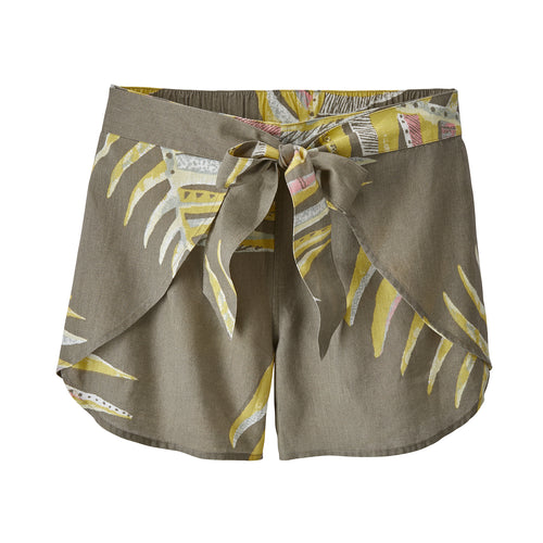 Women's Garden Island Short - Palms of My Heart Big: Marrow Grey