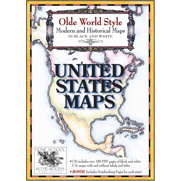 Olde World Style United States Maps