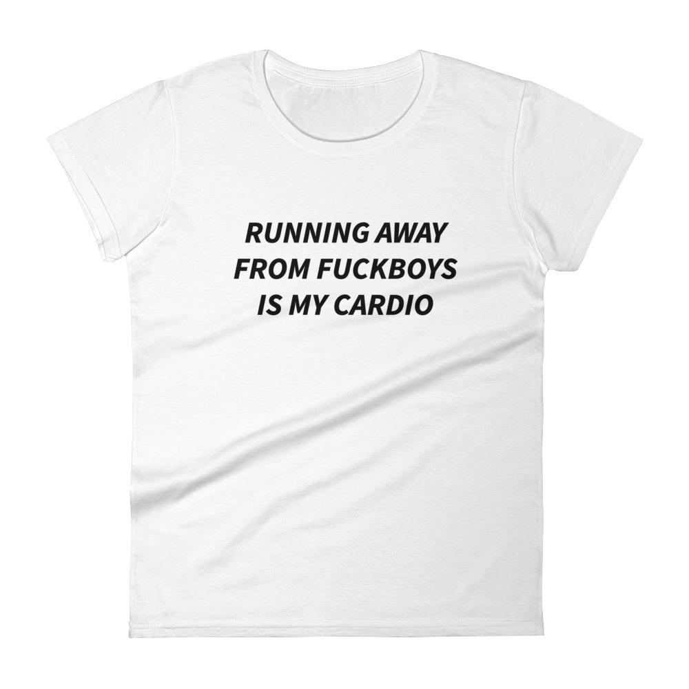 Running away from fuckboys is my cardio t-shirt-The Tee Planet