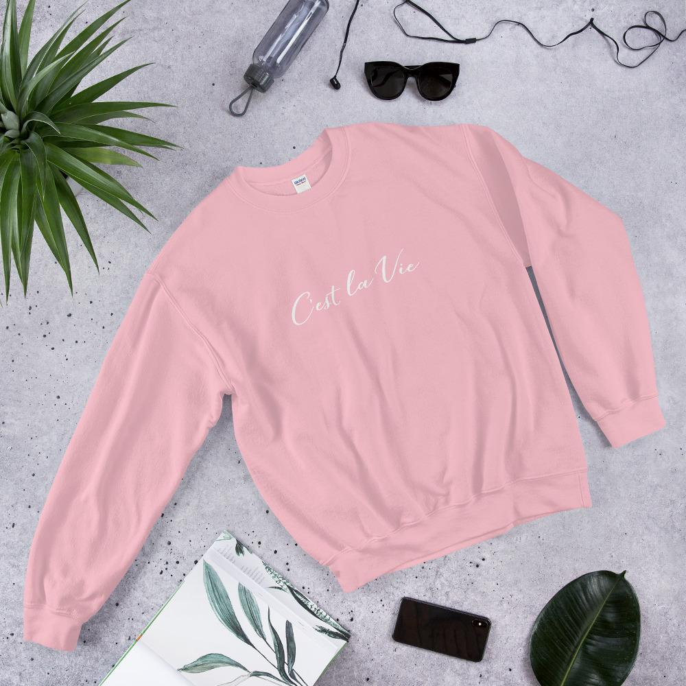 C'est la vie Sweatshirt-The Tee Planet