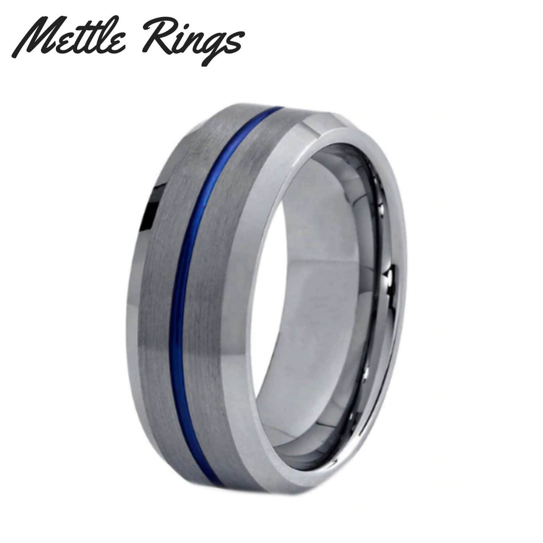 Banks 8mm Tungsten Carbide Mens Wedding Ring