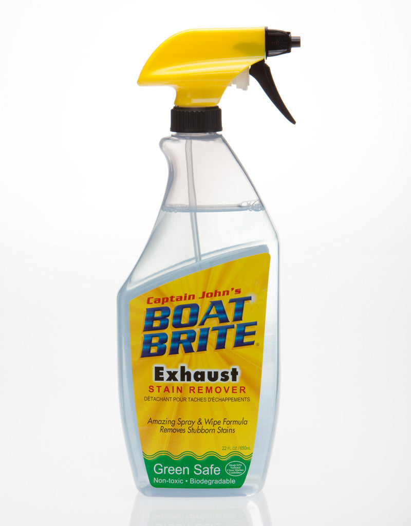boat exhaust stain remover and yacht black streak stain remover
