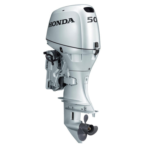 Honda 50hp 4-Stroke Outboard Engine with Long Shaft, Electric Start, Power Trim & Tilt