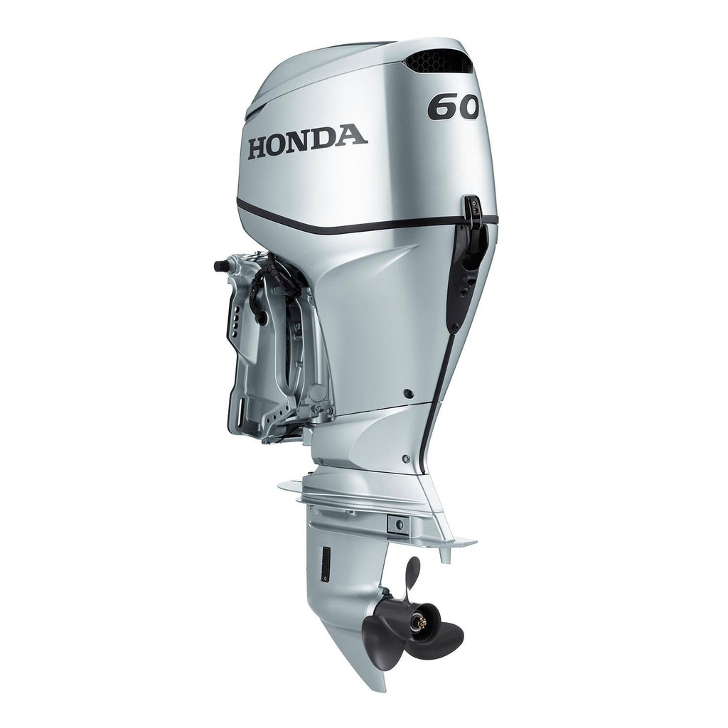 Honda 60hp 4-Stroke Outboard Engine with Extra Long Shaft, Power Thrust, Electric Start, Remote Control, Power Trim & Tilt