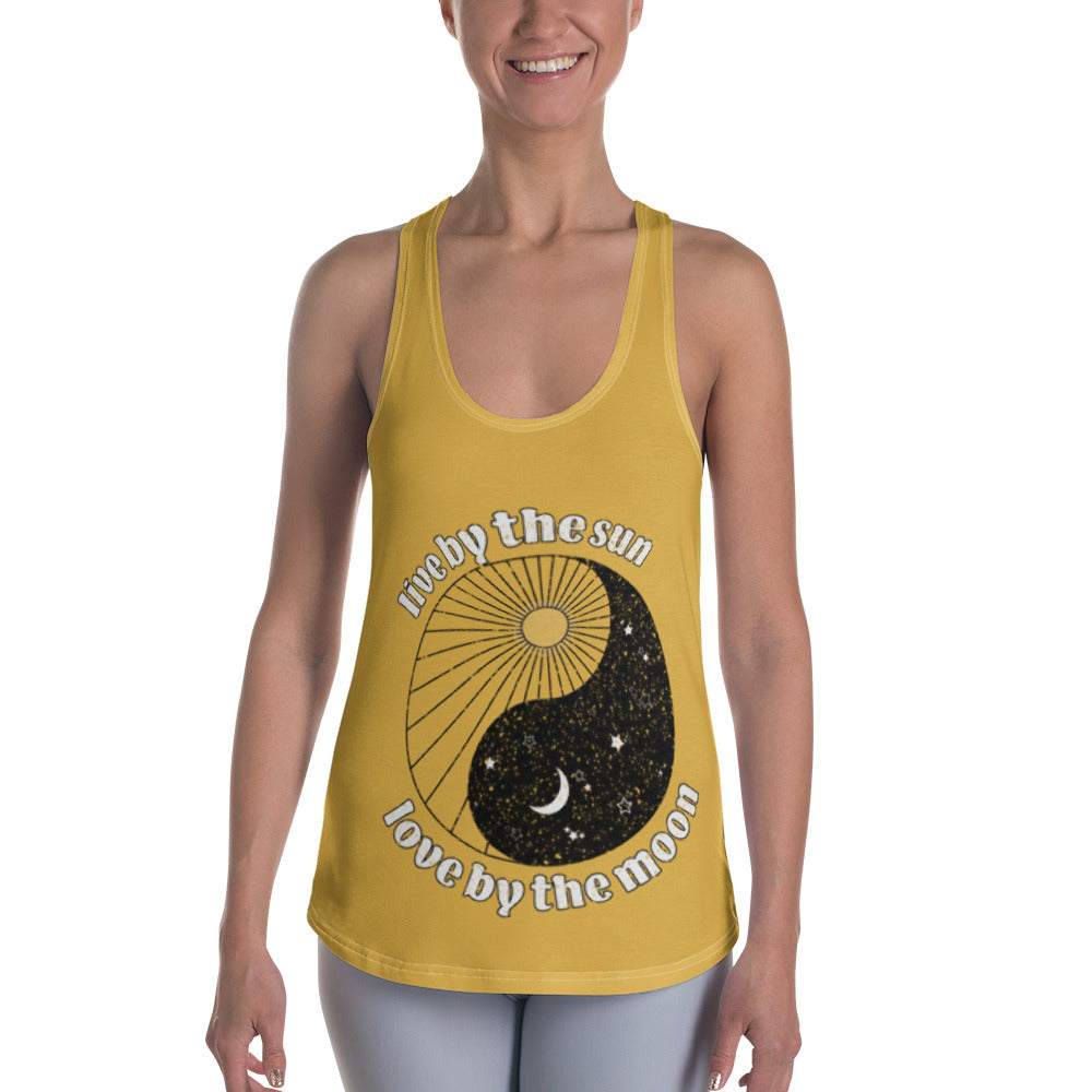 Live by the Sun, Love by the Moon Racerback Tank
