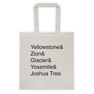 National Parks Helvetica Tote
