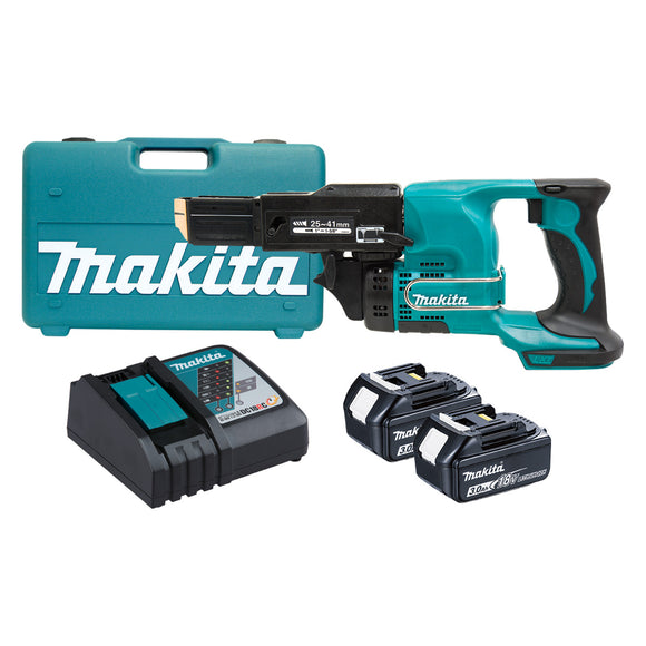 Makita DFR450RFEX 18V Mobile Autofeed Screwdriver Kit
